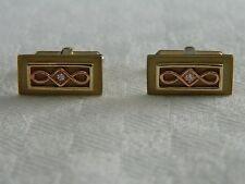 Clogau 9ct Yellow & Rose Welsh Gold Diamond Cufflinks
