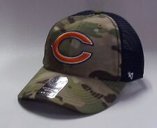 Chicago Bears 47 Brand Compass Closer Hat Stretch Fit Flex Cap Mesh