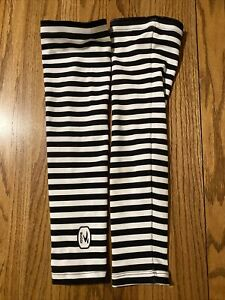 Sugoi Black And White Striped Cycling Arm Warmers Women's XL Size Perfect