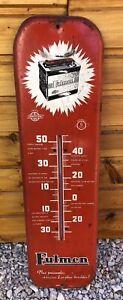 Tôle FULMEN Thermomètre ancien Batterie réf 260 S.G.D.G PUB Non Émaillée PLAQUE