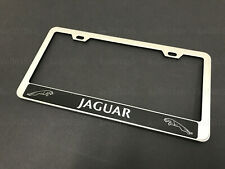 1pc For Jaguarhalostyle Stainless Steel Chrome License Plate Framescrew Caps