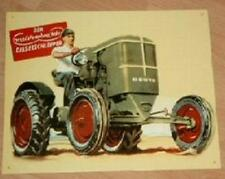 Altes Blechschild Oldtimer Traktor Deutz Diesel Schlepper Reklame gebraucht used