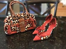 Coach Ocelot Leopard Purse Bag And Shoes 8.5 Lot