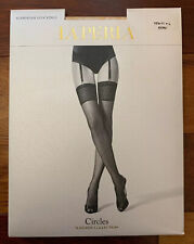 NWT La Perla Suspender Stockings *Circles* Made In Italy *Large*
