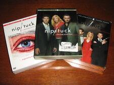NIP/TUCK SEASONS 1-3 COMPLETE SETS 17 DISCS DVD DYLAN WALSH JULIAN MCMAHON