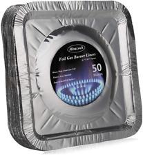 8.5-Inch Aluminum Foil Square Gas Burner Disposable Bib Liners Cover 50 Pieces