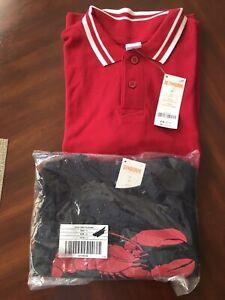 Gymboree Red Short Sleeve Shirt Sz 7, Lobster Tank Top Sz 6