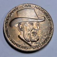 Medaille Hamburg 1948 Bronze - 100 Jahre Carl Hagenbeck, Tierpark - vz+ /xf-plus