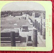 1860s Poet's House Ruins Pompeii Naples Italy Travel Stereoview Albumen Photo