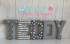 Fabric Letters Wall Art Handmade Nursery Name Personalised Girl Boy