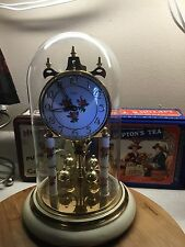 400 day aniversary clock Germany Haller Beautiful enamel and Brass ,Prettiest