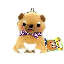 """AMUSE Stuffed Animal Mameshiba San Kyodai Gamakuchi 6"""" Pouch (Mamesaburo) 23c41"""