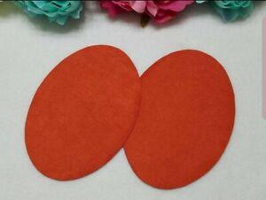 Elbow Patches -- Orange -- Set of 2 -- Iron On