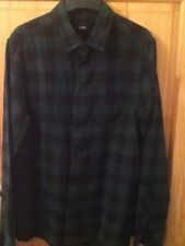 ASOS  brushed cotton checked shirt size M, green/black, new condition