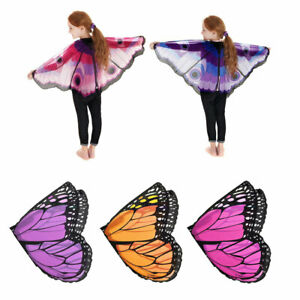 Fairy Tale Cosplay Costume Butterfly Wings Shawl Cape Stole Children Kids Scarf