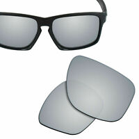 Polarized Replacement Lenses for-OAKLEY Sliver F Sunglass Silver Titanium
