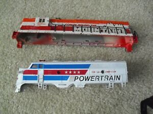 Lot of 2 Vintage HO Scale Locomotive Shells Bodies Powertrain and Rocky Mountain