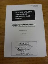 11/02/1998 Oldham Athletic reservas V Port Vale reservas [cuatro páginas] (arrugada).