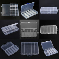 5/14/24 Grids Plastic Fishing Lure Tackle Box Storage Container Case Holder Lot