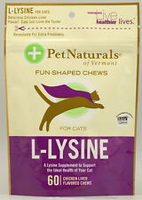 L-Lysine for Cats, Pet Naturals of Vermont, 60 piece Chicken Liver