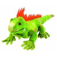 "15"" Green Iguana Soft Toy - Wild Republic Plush Cuddlekins 30cm New Cuddly"