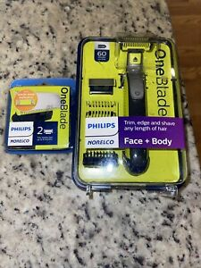 Philips QP2630/70 Norelco OneBlade Face and Body Trimmer+ Extra Pack Of 2 Blades