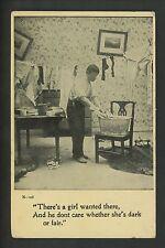 Lovers / Couple Vintage postcard man comic washing clothes #108 Anglo Life