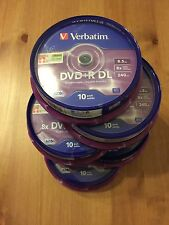 50 DVD+R Doble Capa Verbatim 8x 8.5 GB MKM003 Double Layer DL Tarrina 10 20 25