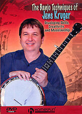 Learn To Play The Banjo Techniques of Jens Kruger DVD TUITION CHORDS READ MUSIC