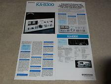 Kenwood KA-8300 Prospekt, 4 PGS, 1977, Daten, Funktionen, Artikel, Info
