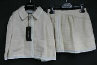 DOLCE & GABBANA Girls 2-Piece Skirt Suit White & Beige Summer Set 6 Years BNWT