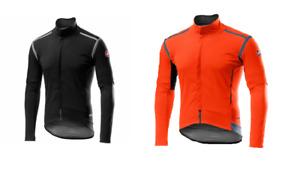 Cycling CASTELLI PERFETTO ROS LS JACKET - BIKE - ORANGE/ LIGHT BLACK
