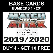 MATCH ATTAX 2019/20 19/20 Champions League cards 2019 / 2020 UK VERSION