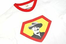 VTG 80s Screen Stars Graphic T Shirt RINGER Soft Thin Indie Hipster 50/50 USA