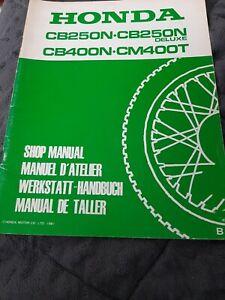 Werstatthandbuch Nachtrag Honda CB400N
