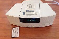 Mint BOSE WAVE RADIO / CD AWRC1P Platinium White W Pedestal ~Remote Bose Sound !