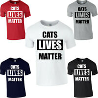 Cat Lives Matter T-Shirt Funny Kitty Animal Lovers Rescue Kitten Gift Tee Top