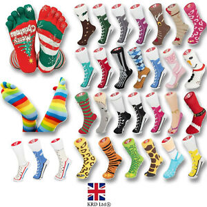 SILLY SOCKS Christmas Novelty Funny Imitation Sneaker Socks Stocking Filler Gift