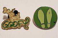 Hidden MICKEY  Goofy Pin Set Of 2