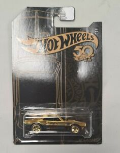 Hot Wheels, 50th ANNIVERSARY SERIES, 67 CAMARO GOLD chase car, FRN33 NOW V RARE