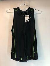 Pearl Izumi Men's Elite Pursuit Tri Singlet Triathlon Cycling Black/Green Size M