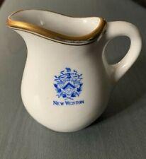 Vintage Restaurant Ware Pitcher New Weston Hotel Creamer w/Gold Trim