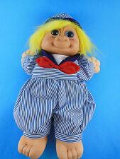 Russ Berrie Troll Kidz Plush Doll Sailor Skippy Blue Eyes Yelow hair