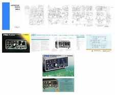 OPERATING MANUAL + SCHEMATIC + COLOR DOCUMENTS for the YAESU FRG-7 RECEIVER