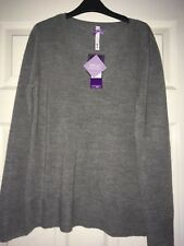 Bhs Super Soft Grey warm Classic sweater ladies Size 12 new With Tags