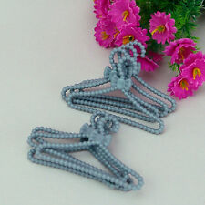 100 Pcs / lot New high quality Gray hangers for barbie doll  Doll accessores