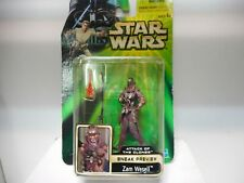 ZAM WESELL ATTACK OF THE CLONES STAR WARS HASBRO FIGURE 3´75 INCH-10CM