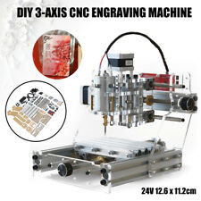 3 Axis DIY CNC Mini Router Engraving Cutting PCB Milling Machine Wood Metal