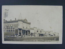 Grundy Center Iowa Street Scene Gas Pump Ice Cream Real Photo Postcard Rppc 1908