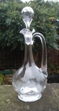 ANTIQUE VICTORIAN ENGLISH STOURBRIDGE WEBB GLASS CLARET JUG / DECANTER